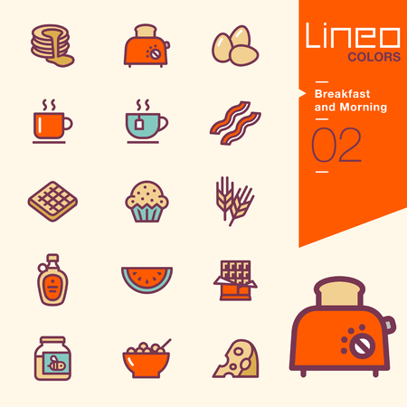 waffle: Lineo Colors - Breakfast and Morning icons