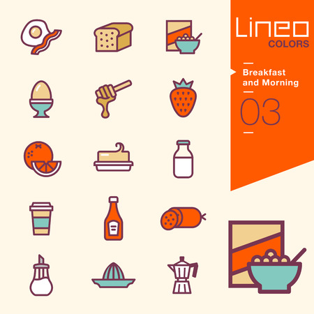 cereal: Lineo Colors - Breakfast and Morning icons