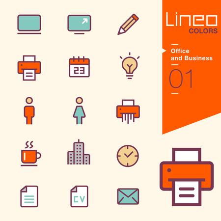 LINEO 색상 - 사무실 및 비즈니스 아이콘