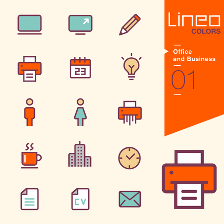 business district: Lineo Colors - Office and Business icons