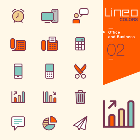 icon phone: Lineo Colors - Office and Business icons