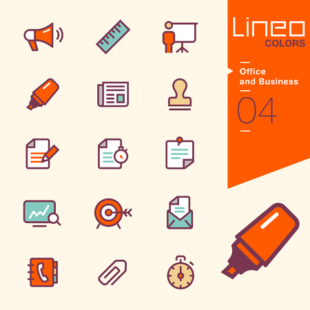 colors: Lineo Colors - Office and Business icons