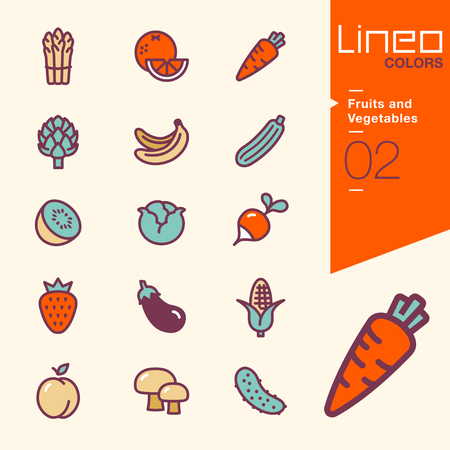 Lineo Colors - Fruits and Vegetables icons