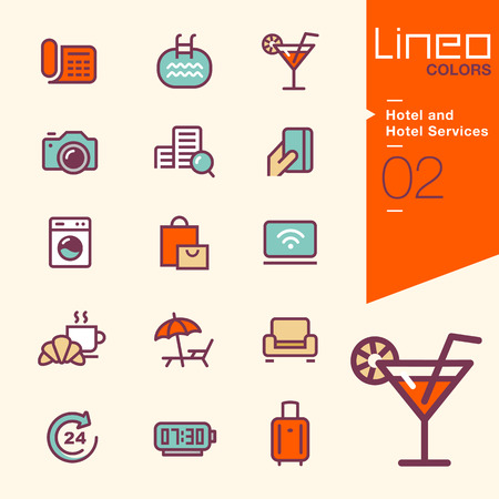 lounge: Lineo Colors - Hotel and Hotel Services icons