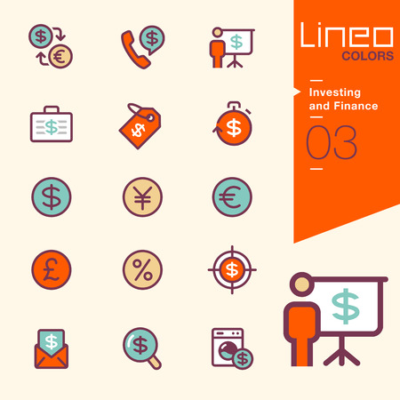 time money: Lineo Colors - Investing and Finance icons