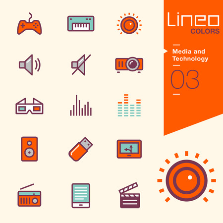 joystick: Lineo Colors - Media and Technology icons