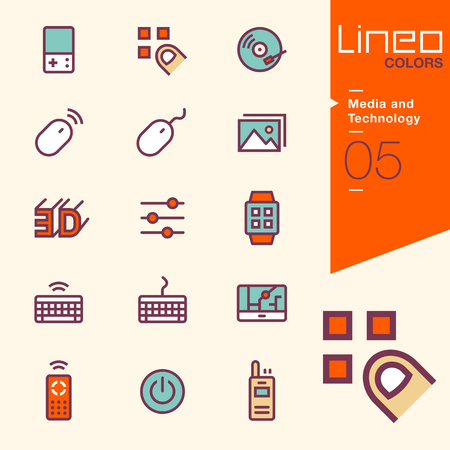 disc jockey: Lineo Colors - Media and Technology icons