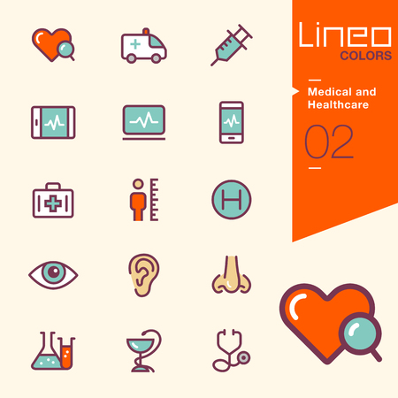 doctor tablet: Lineo Colors - Medical and Healthcare icons