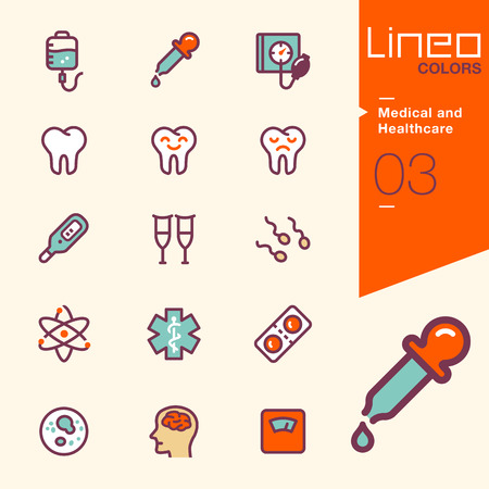 spermatozoid: Lineo Colors - Medical and Healthcare icons