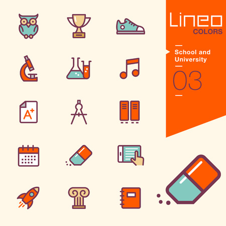 chemistry lesson: Lineo Colors - School and University icons