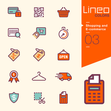 secure payment: Lineo Colors - Shopping and E-commerce icons