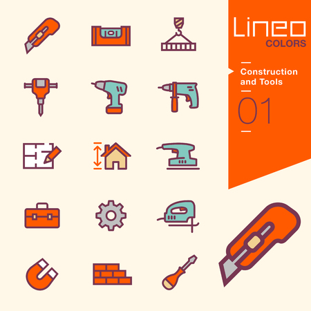 construction plan: Lineo Colors - Construction and Tools icons