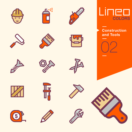 work crate: Lineo Colors - Construction and Tools icons