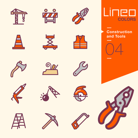 safety equipment: Lineo Colors - Construction and Tools icons