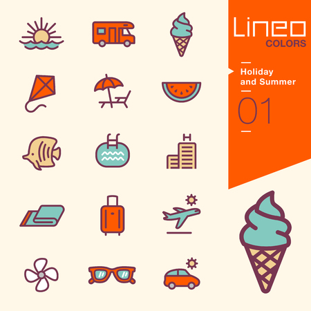 deckchair: Lineo Colors - Holiday and Summer icons