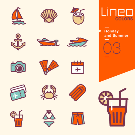 ski pass: Lineo Colors - Holiday and Summer icons