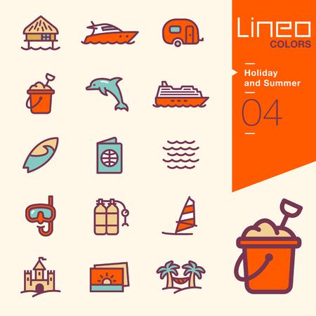 hamaca: Lineo Colores - vacaciones y verano iconos