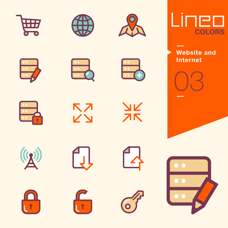 closed lock: Lineo Colors - Website and Internet icons Illustration