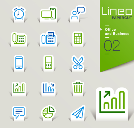 papercut: Lineo Papercut - Office and Business icons outline