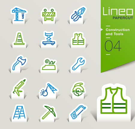 silicone gun: Lineo Papercut - Construction and Tools icons outline