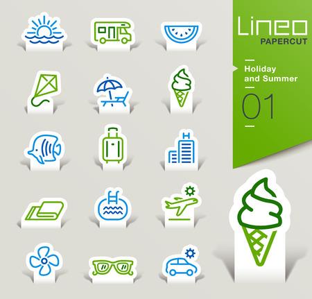 Lineo Papercut - Vacanze estive e contorno icone