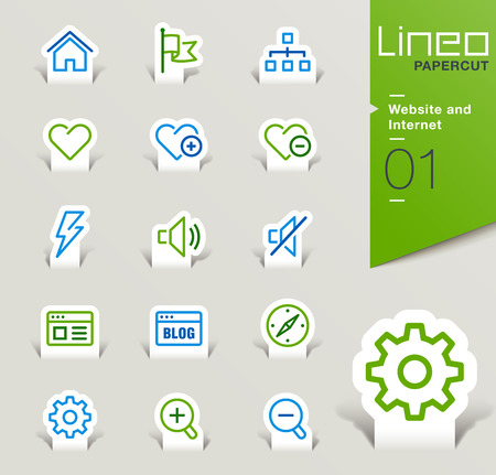 Lineo Papercut - Website and Internet icons outline