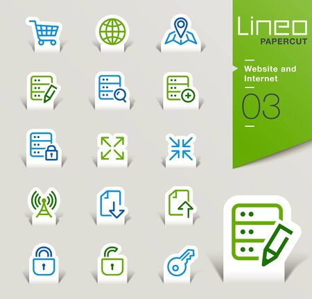 send: Lineo Papercut - Website and Internet icons outline