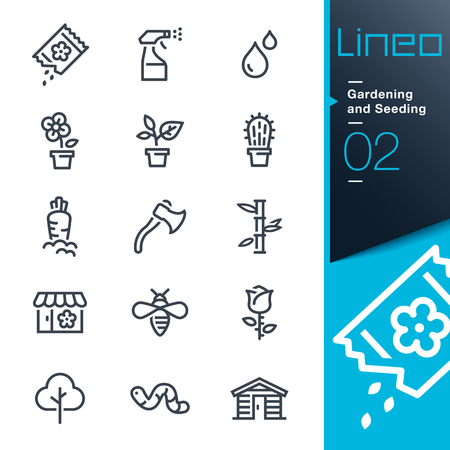 seed: Lineo - Gardening and Seeding line icons