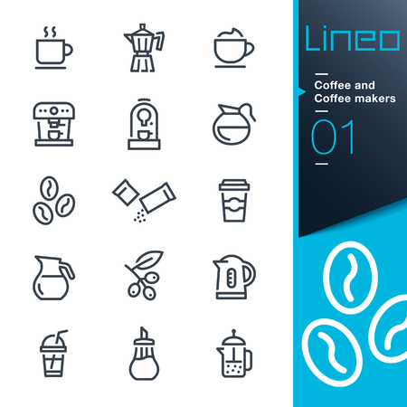 Lineo - Coffee line icons Illustration