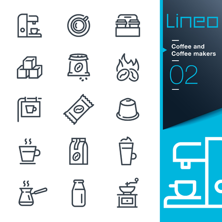 Lineo - Coffee line icons Иллюстрация
