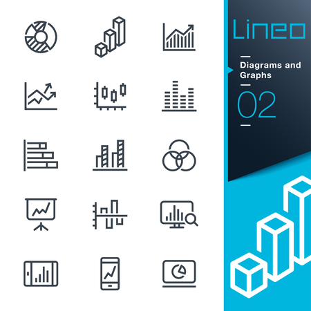 Lineo - Diagrams and Graphs line icons