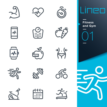 Lineo - Fitness en Gym lijn iconen