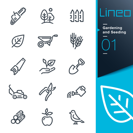 agriculture icon: Lineo - Gardening and Seeding line icons