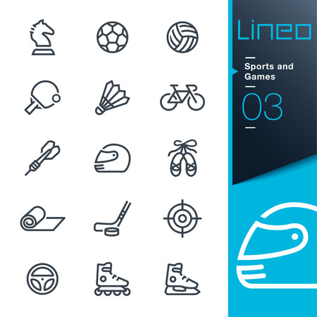 gym equipment: Lineo - Sports and Games line icons