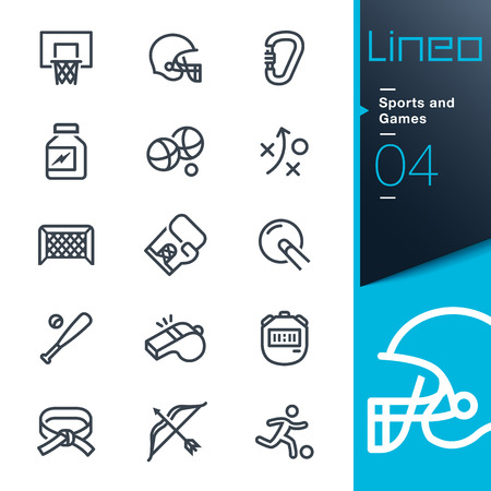 dan: Lineo - Sports and Games line icons