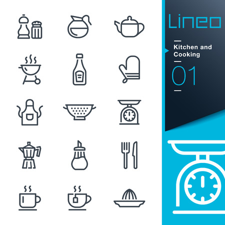 colander: Lineo - Kitchen and Cooking line icons