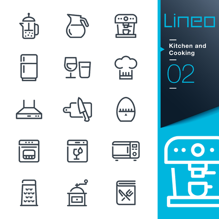 percolator: Lineo - Kitchen and Cooking line icons
