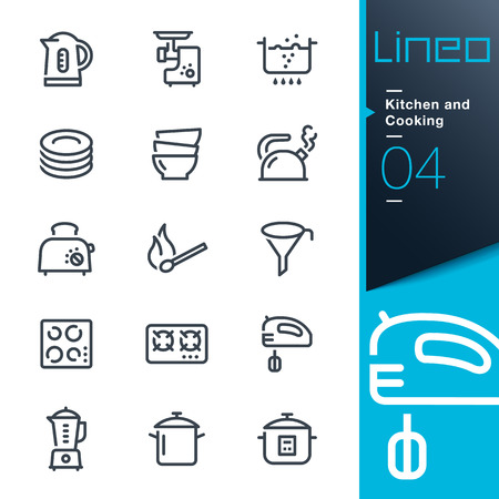 Lineo - Kitchen and Cooking lijn iconen