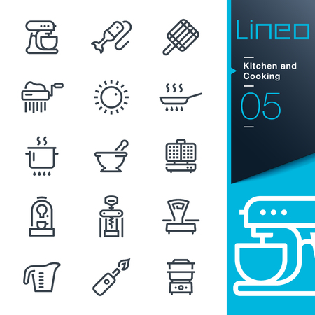 gas lighter: Lineo - Kitchen and Cooking line icons