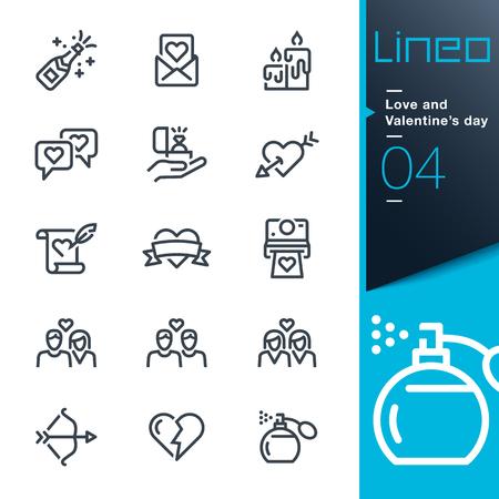 Lineo - Liebe und Valentinstag-Symbole Linie
