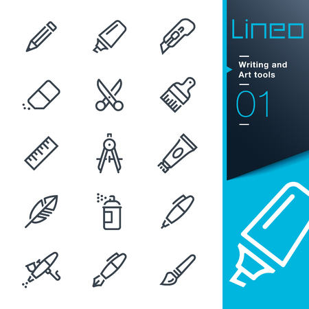 Lineo - Writing and Art line tools icons