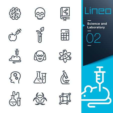 Lineo - Scienza e laboratorio icone delle linee