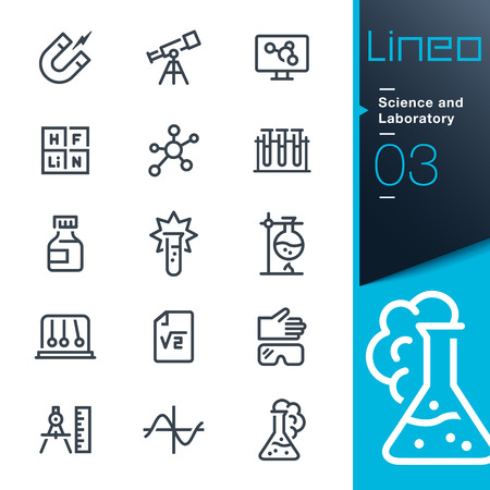 laboratory equipment: Lineo - Science and Laboratory line icons