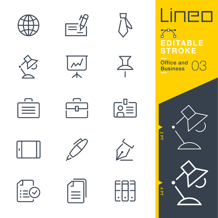 Lineo Editable Stroke - Office and Business outline icons. Vector Icons - Adjust stroke weight - Expand to any size - Change to any color. Ilustrace