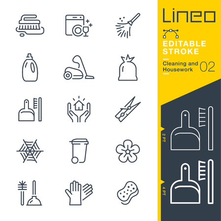 Cleaning and Housework line icon Vector Icons