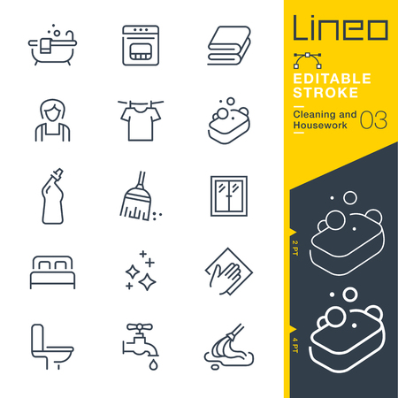 Lineo Editable Stroke - Cleaning and Housework line icon Vector Icons - Adjust stroke weight - Change to any color 免版税图像 - 78908025