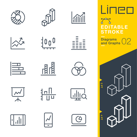 report icon: Lineo Editable Stroke - Graphic Stripes Vector Icons - Adjust stroke weight - Change to any color