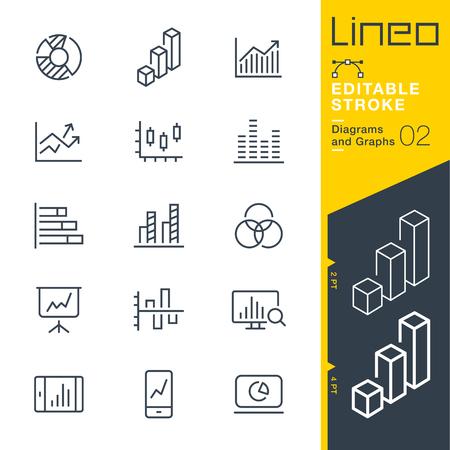 Lineo Editable Stroke - Grafische Strepen Vector Pictogrammen - Pas slaggewicht aan - Verander naar elke kleur