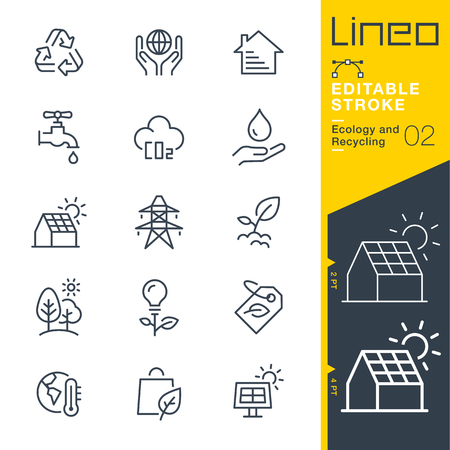 icon: Lineo Editable Stroke - Ecology and Recycling line icon Vector Icons - Adjust stroke weight - Change to any color Illustration