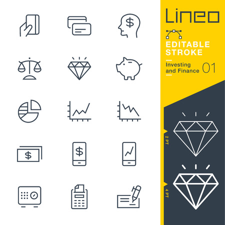 dirty: Lineo Editable Stroke - Investing and Finance line icon Vector Icons - Adjust stroke weight - Change to any color